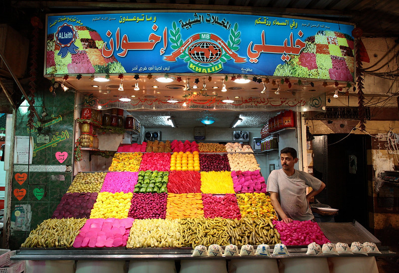 Damascus: Ready for business. Photo by Ketan Gajria, 2008: Shopkeeper near Bab as-Sarouja market across from Madhat Basha