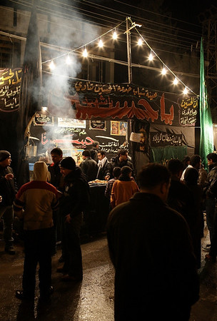 A picture of a Sabeel, where passers by and pilgrims are offered free hot drinks. Photo by Ketan Gajria